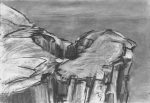 Cliff Drawing 2, Isle of Muck: charcoal and graphite