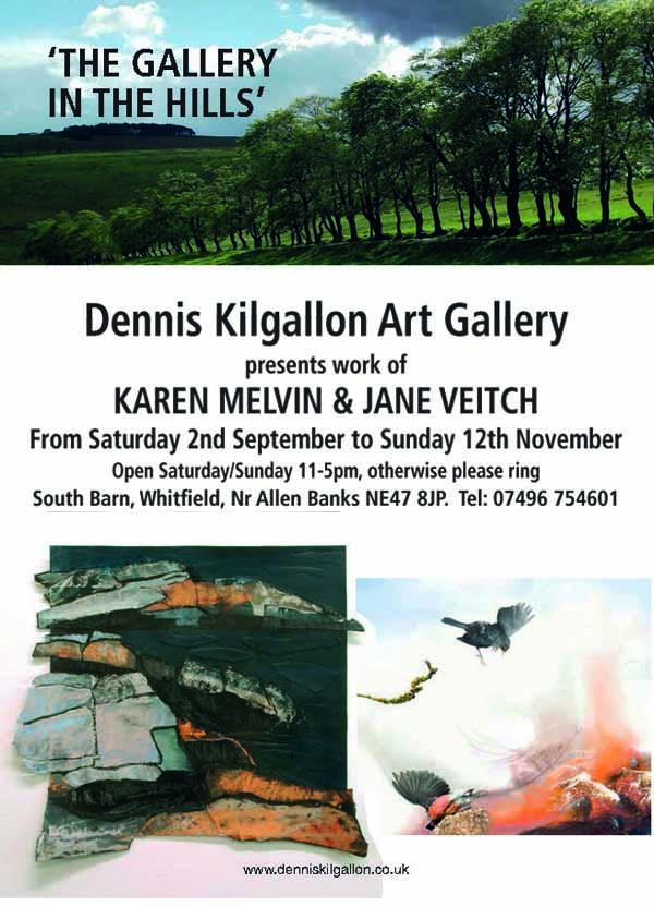 Exhibition at Gallery in the Hills, 2nd September to 12th November 2017